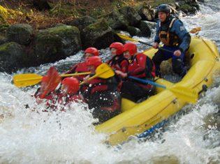 Activity break ideas white water rafting