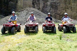 quad biking wales