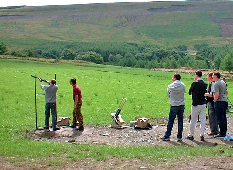 clay pigeon shooting with Adventure britain