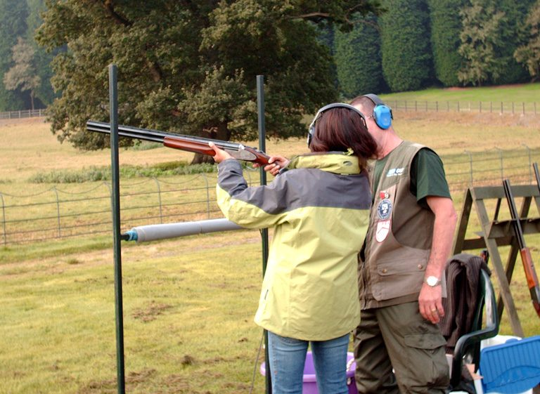 clay pigeon shooting in south wales