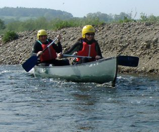 Canoeing on River Wye
