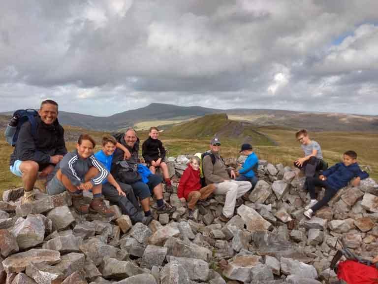 family mountain walk