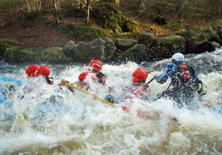 Adventure activity idea white water rafting