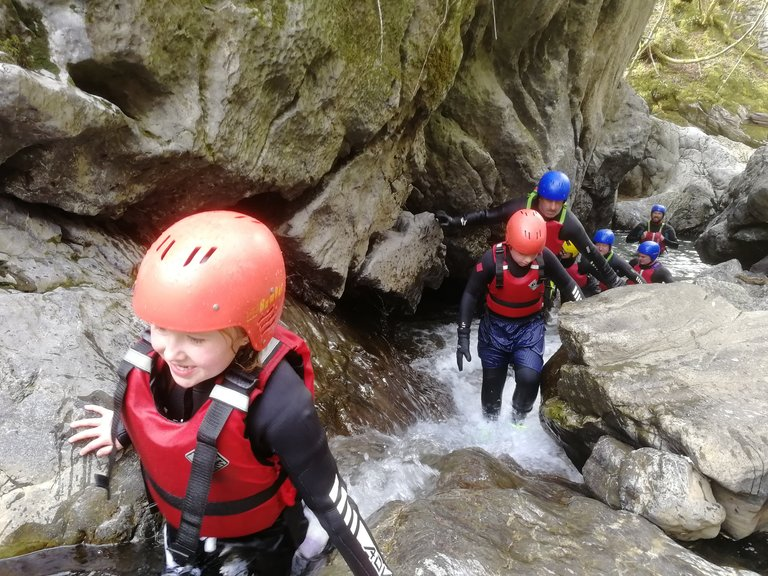 Parent and child adventure break half-term holiday